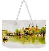Illustration Of Amstradam In Watercolour Weekender Tote Bag
