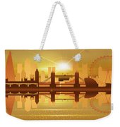 Illustration Of City Skyline - London  Sunset Panorama Weekender Tote Bag