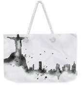 Illustration Of City Skyline - Rio De Janeiro In Chinese Ink Weekender Tote Bag