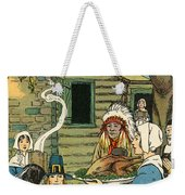 Illustration Of The First Thanksgiving Weekender Tote Bag