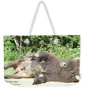 Give Me A Minute, I Know I Can Rollover Weekender Tote Bag
