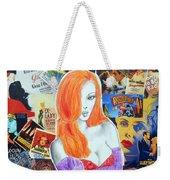 I'm Just Drawn That Way --v.2 -- Jessica Rabbit Portrait Weekender Tote Bag