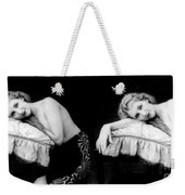 Im Too Tired, Nude Model, 1928 Weekender Tote Bag