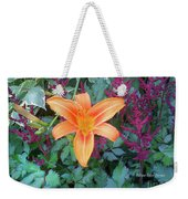 Image Included In Queen The Novel - Late Summer Blooming In Vermont 23of74 Enhanced Weekender Tote Bag