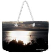 Image Included In Queen The Novel - Lighthouse Contrast Weekender Tote Bag