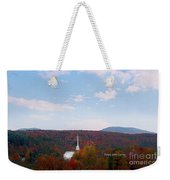 Image Included In Queen The Novel - New England Church Enhanced Weekender Tote Bag