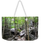 Image Included In Queen The Novel - Rocks At Smugglers Notch Weekender Tote Bag