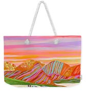 My Imagination Of China's Vast Rainbow Mountains Weekender Tote Bag