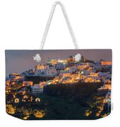 Imerovigli After Sunset, Santorini Weekender Tote Bag