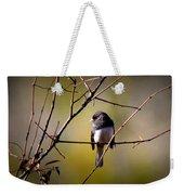 Img_0001 - Dark-eyed Junco - Snowbird Weekender Tote Bag