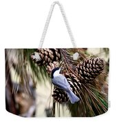 Img_0215-022 - Carolina Chickadee Weekender Tote Bag