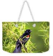 Img_0841-003 - Red-winged Blackbird Weekender Tote Bag