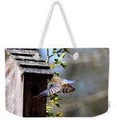 Img_1753-001 - Eastern Bluebird Weekender Tote Bag