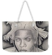 Immortalizing In Stone Jean Michel Basquiat Drawing Weekender Tote Bag