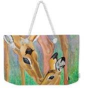 Impala Doe And Fawn Weekender Tote Bag
