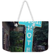 Imperial Hotel Sign In Cripple Creek Weekender Tote Bag