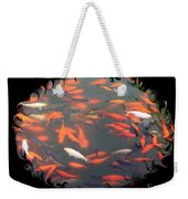 Imperial Koi Pond With Black Swirling Frame Weekender Tote Bag