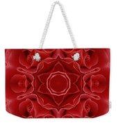 Imperial Red Rose Mandala Weekender Tote Bag