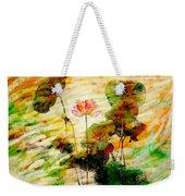 Impression In Lotus Tree Weekender Tote Bag