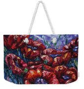 Impressionist Field Poppies Weekender Tote Bag