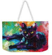 Impressionistic Black Cat Painting 2 Weekender Tote Bag