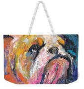 Impressionistic Bulldog Painting Weekender Tote Bag
