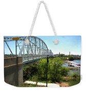 Impressionistic Llano Bridge Weekender Tote Bag