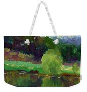 Impressionistic Oil Landscape Lake Painting Weekender Tote Bag