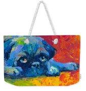 impressionistic Pug painting Weekender Tote Bag by Svetlana Novikova