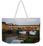 Impressions Of Florence - Ponte Vecchio Autumn Weekender Tote Bag