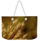 In An Autumn Field - Golden Macro Weekender Tote Bag