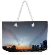 In Austin Streams Of Mexican Freetailed Bats The Worlds Largest Urban Bat Colony Take To The Skies During Sunset Weekender Tote Bag