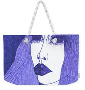 In Blue Colour Weekender Tote Bag