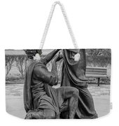 In Celebration Of Family Black And White  Weekender Tote Bag