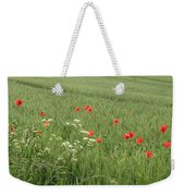 in Flanders Fields the  poppies blow Weekender Tote Bag