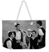 In Greek Discussion Weekender Tote Bag