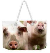 In Pig Times And Bad Times We Will Always Be Together  Weekender Tote Bag