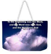 In The Beginning... Weekender Tote Bag