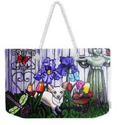 In The Chihuahua Garden Of Good And Evil Weekender Tote Bag