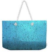 In The Dark Blue Rain Weekender Tote Bag