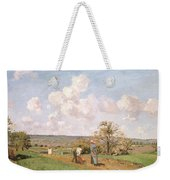 In The Fields Weekender Tote Bag by Camille Pissarro