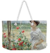 In The Flower Garden, 1899 Weekender Tote Bag