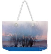 In The Fog At Sunrise Weekender Tote Bag