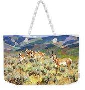 In The Foothills - Antelope Weekender Tote Bag