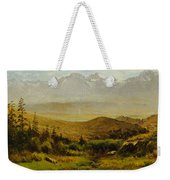 In The Foothills Of The Rockies Weekender Tote Bag by Albert Bierstadt