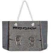 In The Footsteps Of Rocky Weekender Tote Bag by Bill Cannon