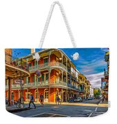 In The French Quarter - 2 Paint Weekender Tote Bag