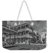 In The French Quarter - 3 Bw Weekender Tote Bag