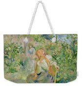 In The Garden At Roche Plate Weekender Tote Bag by Berthe Morisot