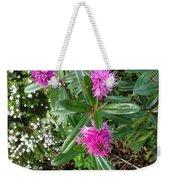 Hebe Bush In The Garden Weekender Tote Bag